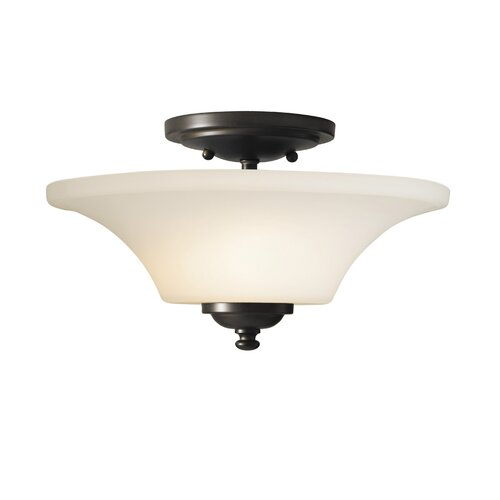 Feiss Barrington Two Light Semi Flush Mount