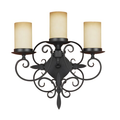 Feiss Colonial Manor 3 Light Wall Bracket