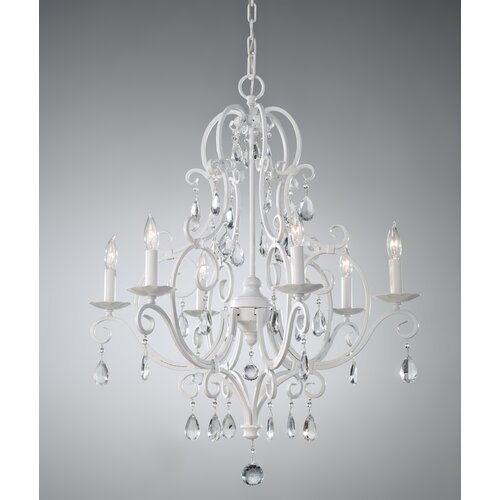 Feiss Chateau Blanc 6 Light Chandelier