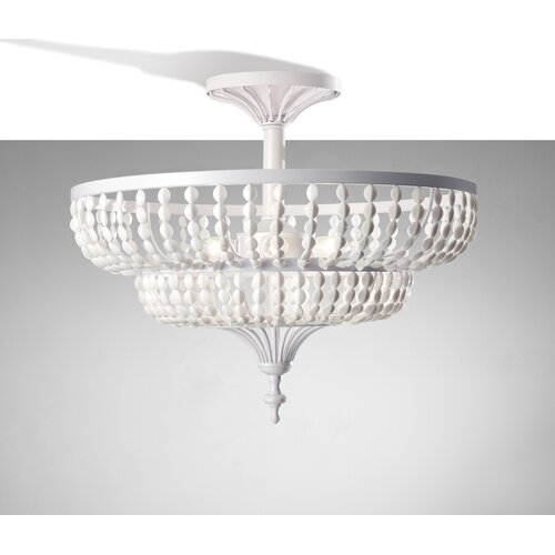 Feiss Maarid 3 Light Semi Flush Mount