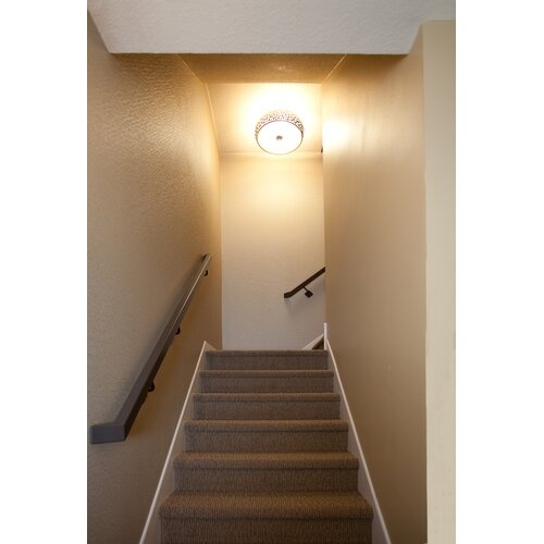 Feiss Zara 3 Light Semi Flush Mount
