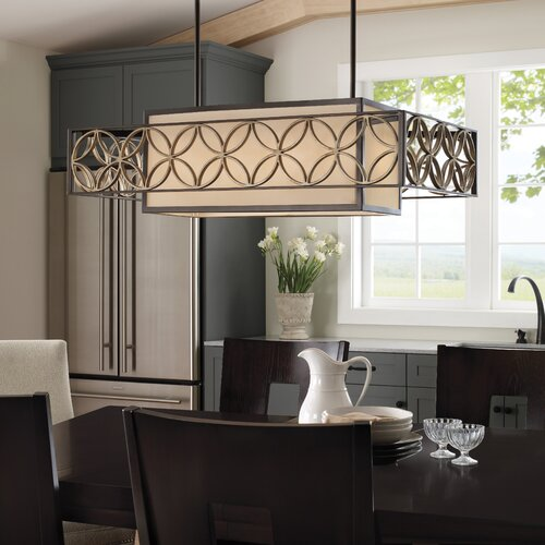 Feiss Remy 4 Light Kitchen Island Pendant
