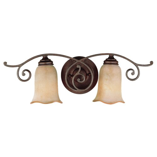 Feiss Tuscan Villa 2 Light Vanity Light
