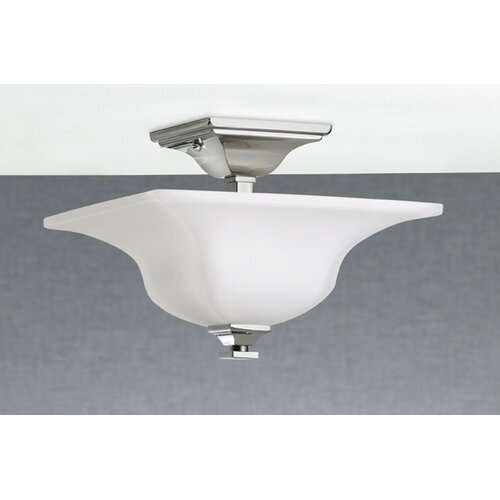 Feiss American Foursquare 4 Light Semi Flush Mount