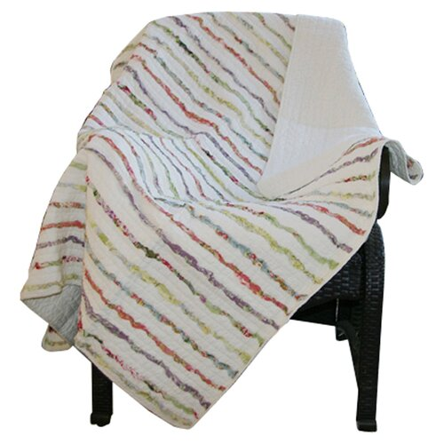 Greenland Home Fashions Bella Cotton Ruffle Throw