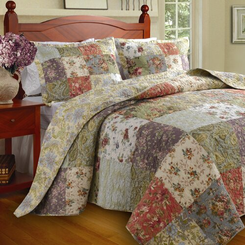 Greenland Home Fashions Blooming Prairie Bedspread Set