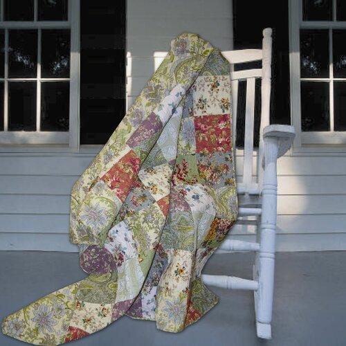 Greenland Home Fashions Blooming Prairie Cotton Throw