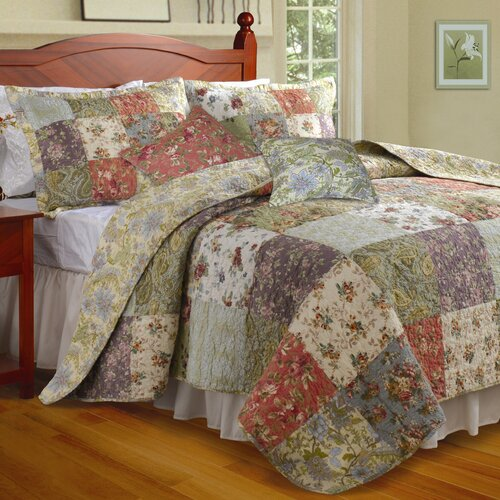 Greenland Home Fashions Blooming Prairie Bonus Quilt Set
