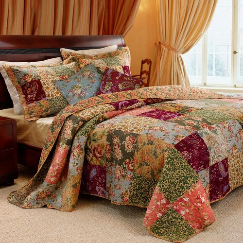 Greenland Home Fashions Antique Chic Bonus Twin Set, 4-Piece