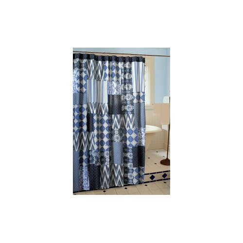Greenland Home Fashions Santorini Patchwork Shower Curtain