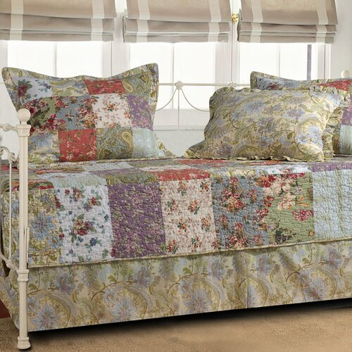 Greenland Home Fashions Blooming Prairie 5 Piece Daybed Set