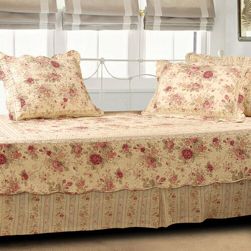 Greenland Home Fashions Antique Rose 5 Piece Daybed Set