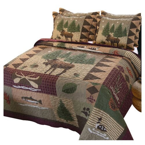 Moose 6 Piece Crib Set Moose Lodge 3 Piece Quilt Set