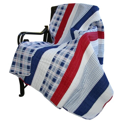 Nautical Stripe Cotton Throw