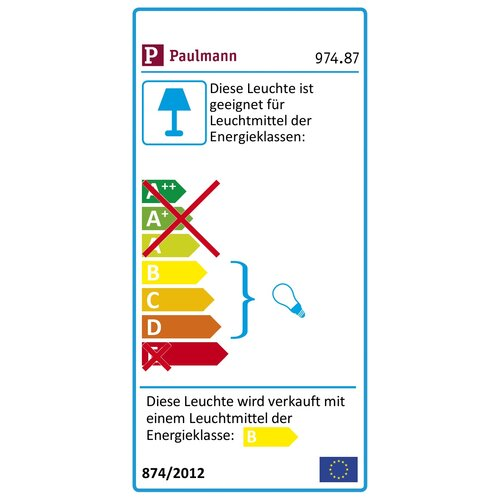 Paulmann 4 x 50 Watt Seilsystem EasyPower aus Metall in Chrom