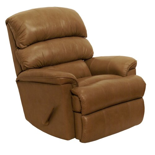 Catnapper bentley leather chaise recliner for Catnapper recliner chaise