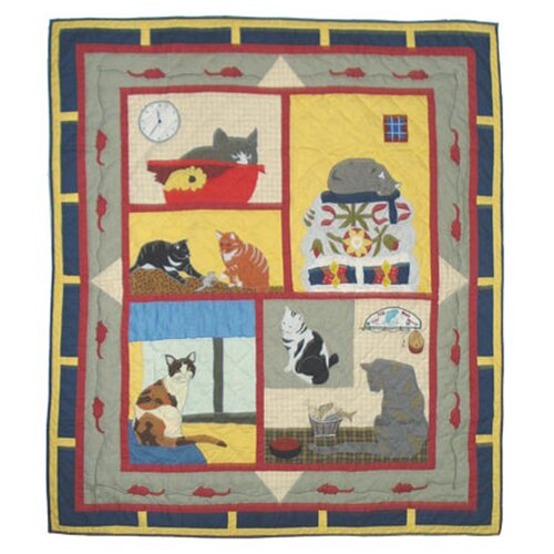 Patch Magic Cats Tale Cotton Throw