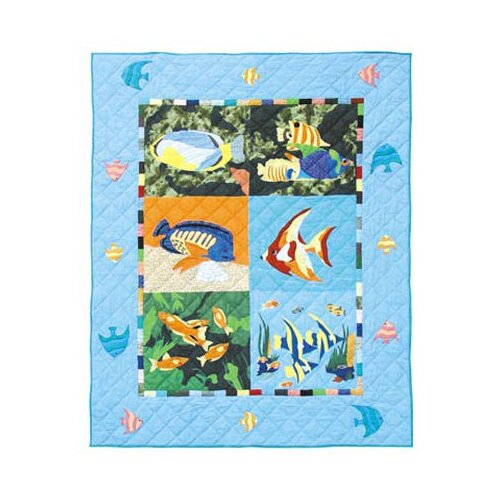 Patch Magic Ocean Schools Cotton Throw Quilt