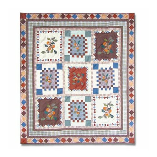 Acres of Acorns Cotton Throw Quilt