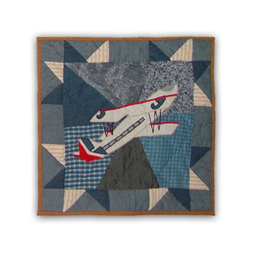 Patch Magic Airplane Toss Pillow