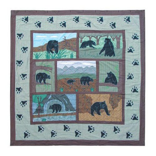 Bear Country Cotton Shower Curtain