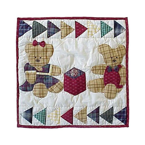 Patch Magic Brown Bear Toss Pillow