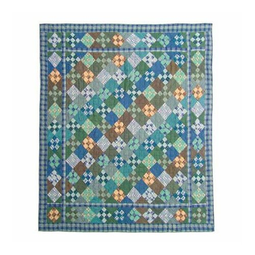Patch Magic Chambray Nine Patch Quilt