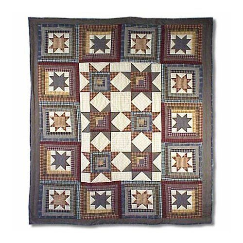 Patch Magic Cottage Star Cotton Throw Quilt