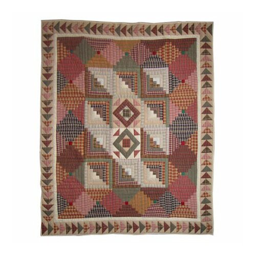 Patch Magic Country Roads Cotton Throw Quilt
