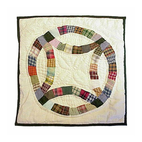 Patch Magic Country Wedding Ring Toss Pillow