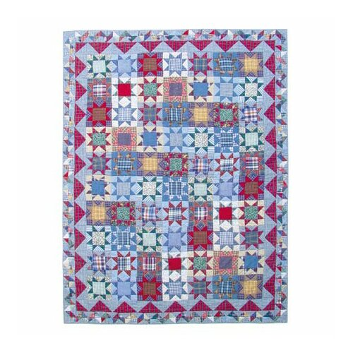 Patch Magic Denim Burst Quilt
