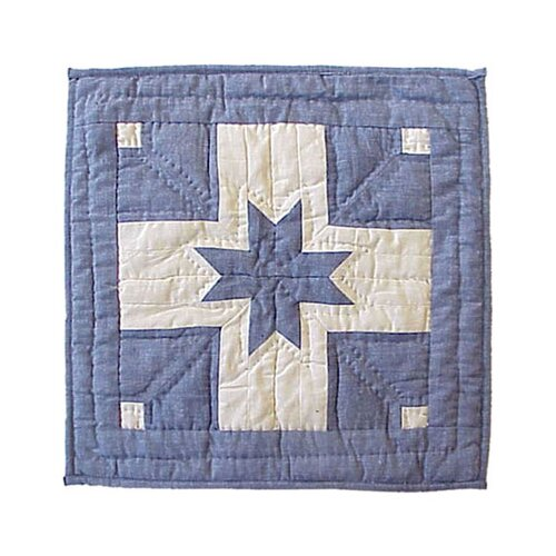 Patch Magic Feathered Star Toss Pillow