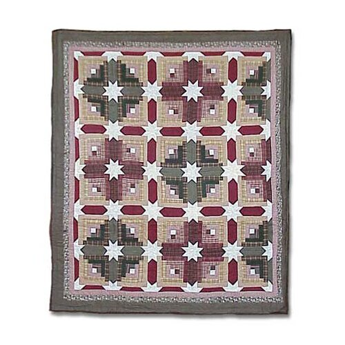 Patch Magic Snowflake Log Cabin Duvet Cover / Comforter