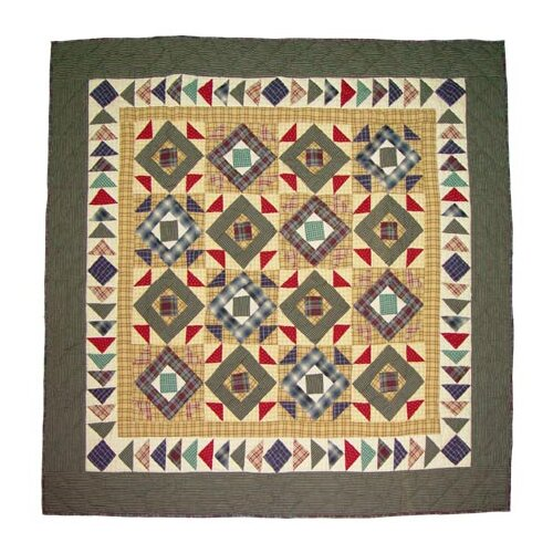 Patch Magic Square Diamond Cotton Throw Quilt