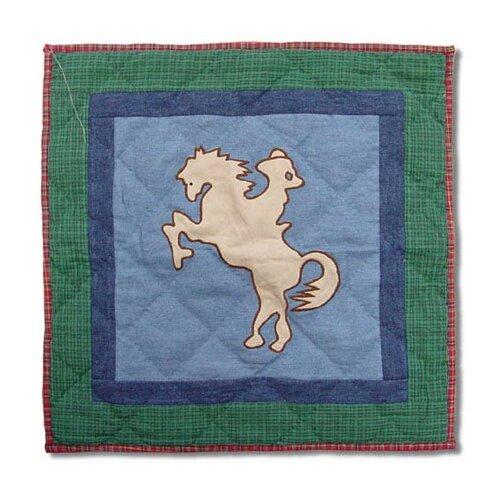 Patch Magic Western Santa Rider Toss Pillow