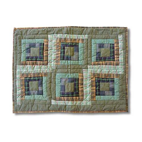Green Log Cabin Pillow Sham