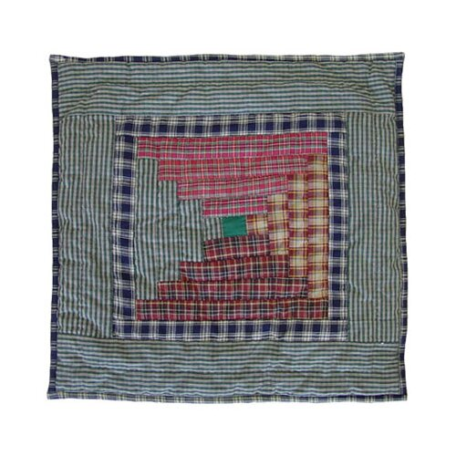 Patch Magic Harvest Log Cabin Toss Pillow