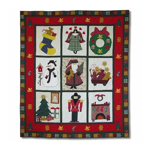 Patch Magic Holiday Cheer Throw Quilt
