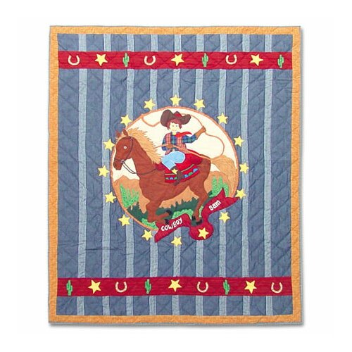 Patch Magic Lil Buckaroo Cotton Throw Quilt