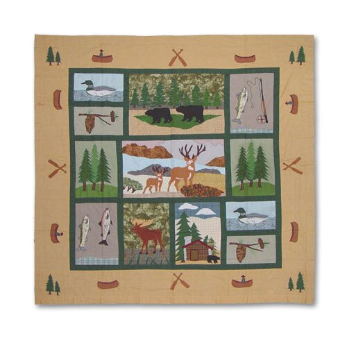 Lodge Fever Cotton Shower Curtain