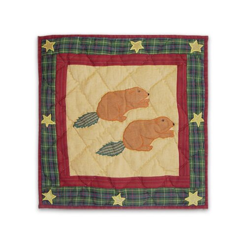 Patch Magic Northwood Star Beaver Toss Pillow