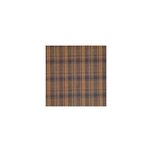 Dark Brown Plaid Bed Skirt / Dust Ruffle