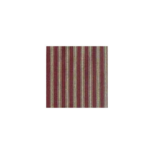 Deep Red with Tan Stripes Toss Pillow