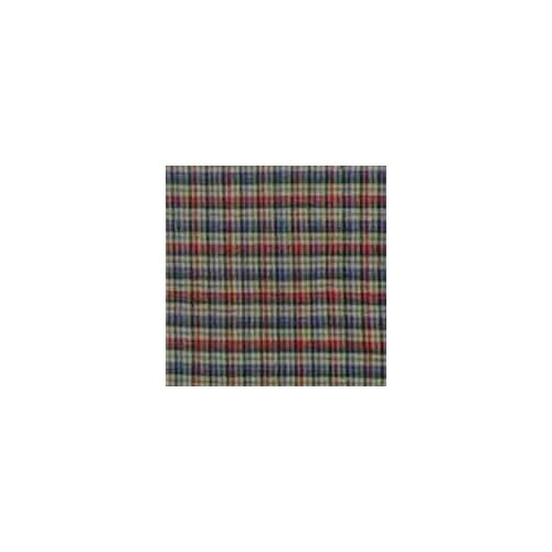 Tan and Blue Plaid Red Pink Line Toss Pillow