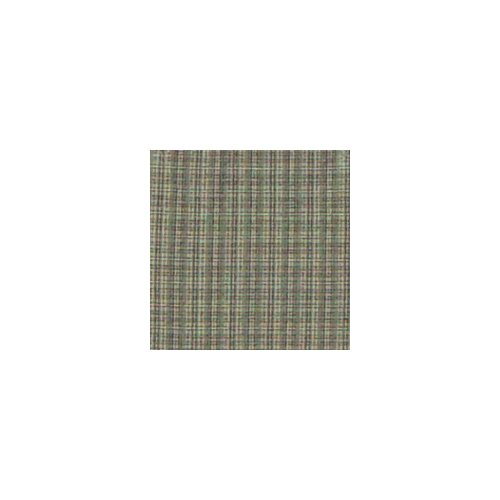 Patch Magic Green Sage Plaid Black and White Lines Cotton Curtain Panel