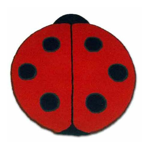 Patch Magic Ladybug Red/Black Area Rug