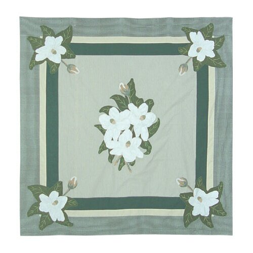 Magnolia Blossoms Cotton Shower Curtain