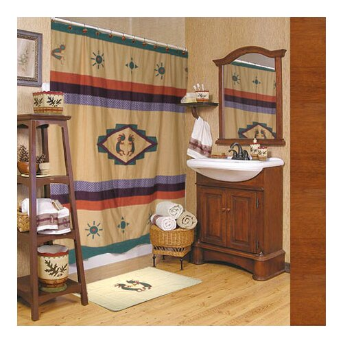 Patch Magic Kokoepelli Cotton Cool Shower Curtain