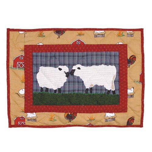 Patch Magic Barnyard Cotton Crib Toss Pillow