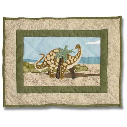 Dinosaur Cotton Crib Toss Pillow
